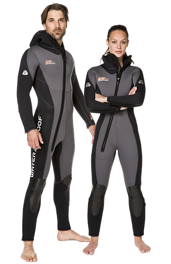 Водолазен неопренов костюм с боне W6 SC 7mm Lady - Waterproof