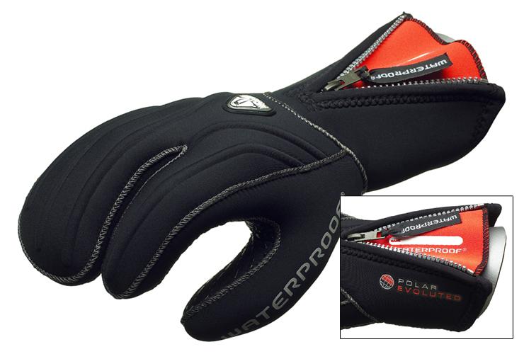 Водолазни неопренови ръкавици с три пръста G1 7 мм - Waterproof